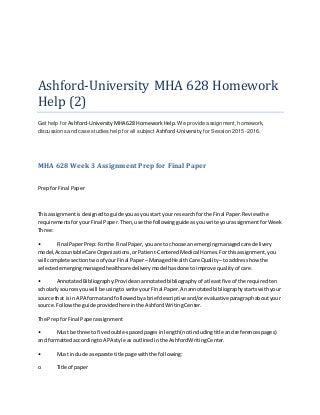 Ashford university homework help