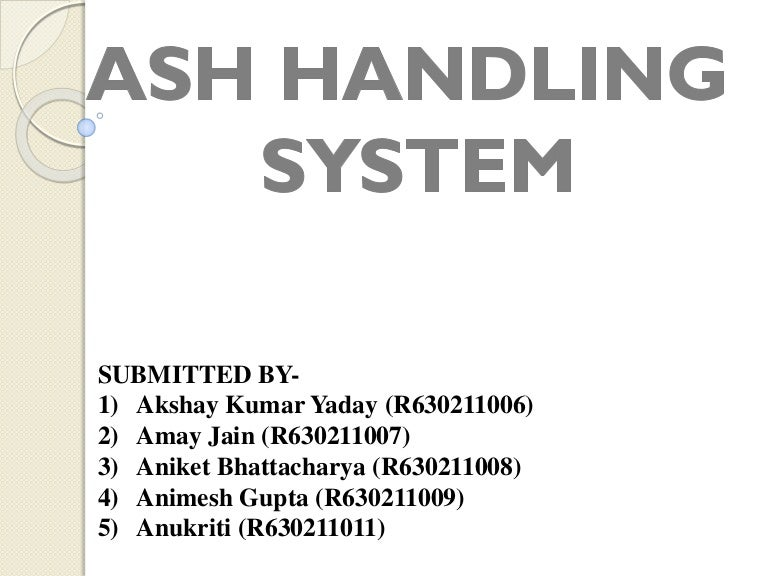Ash Handling System Of A Thermal Power Plant