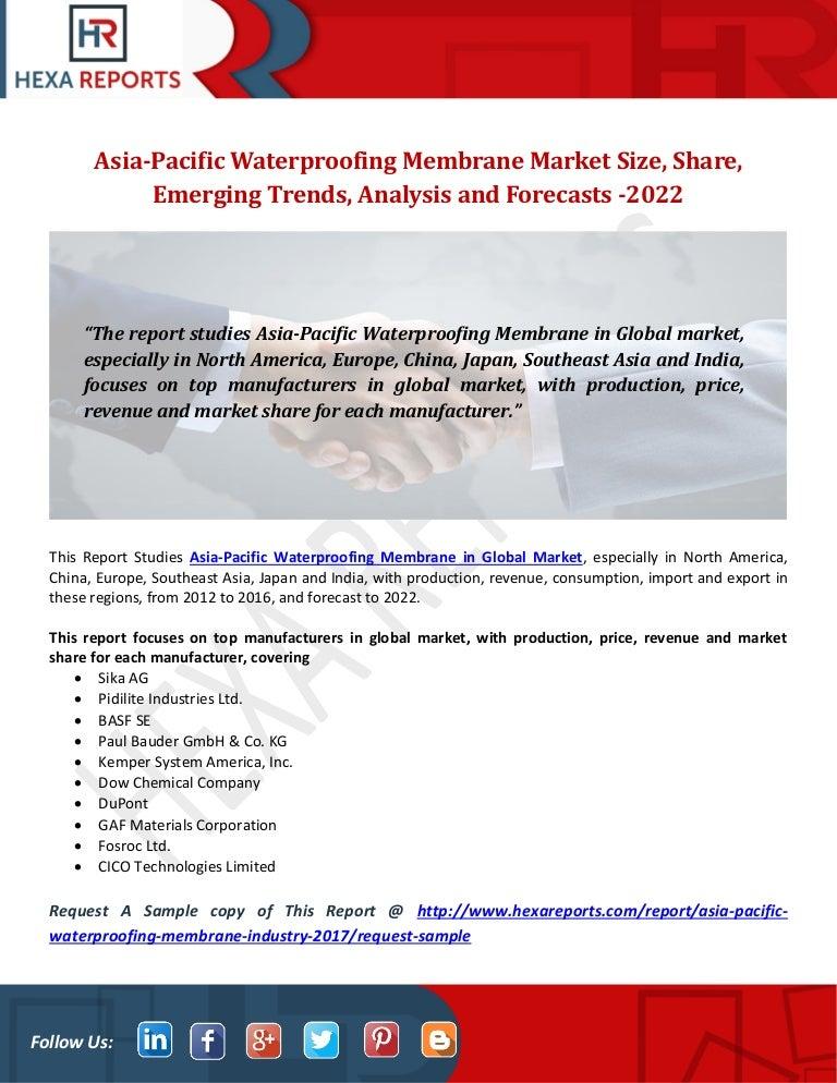 Asia Pacific Waterproofing Membrane Industry Size Growth Methodolog