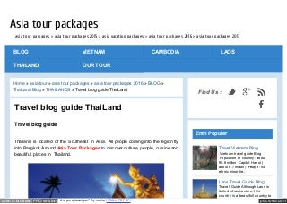 Thailand travel guide 2016