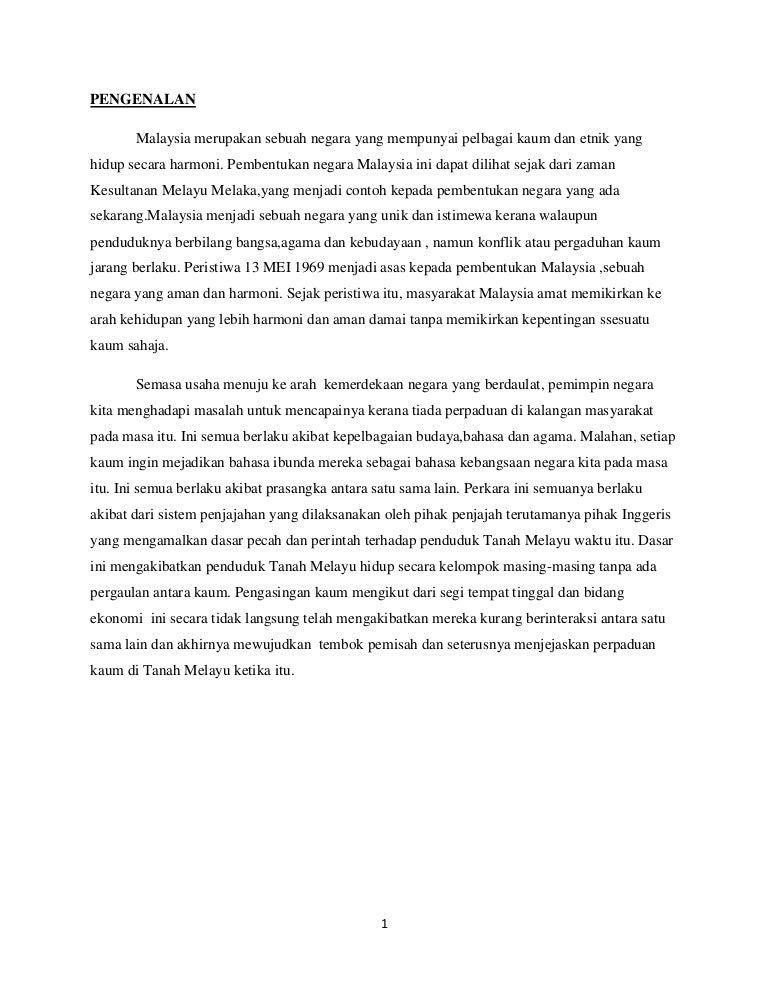 Asigment Kenegaraan Kontrak Sosial Membentuk Perpaduan