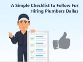 A Simple Checklist to Follow For Hiring Plumbers Dallas