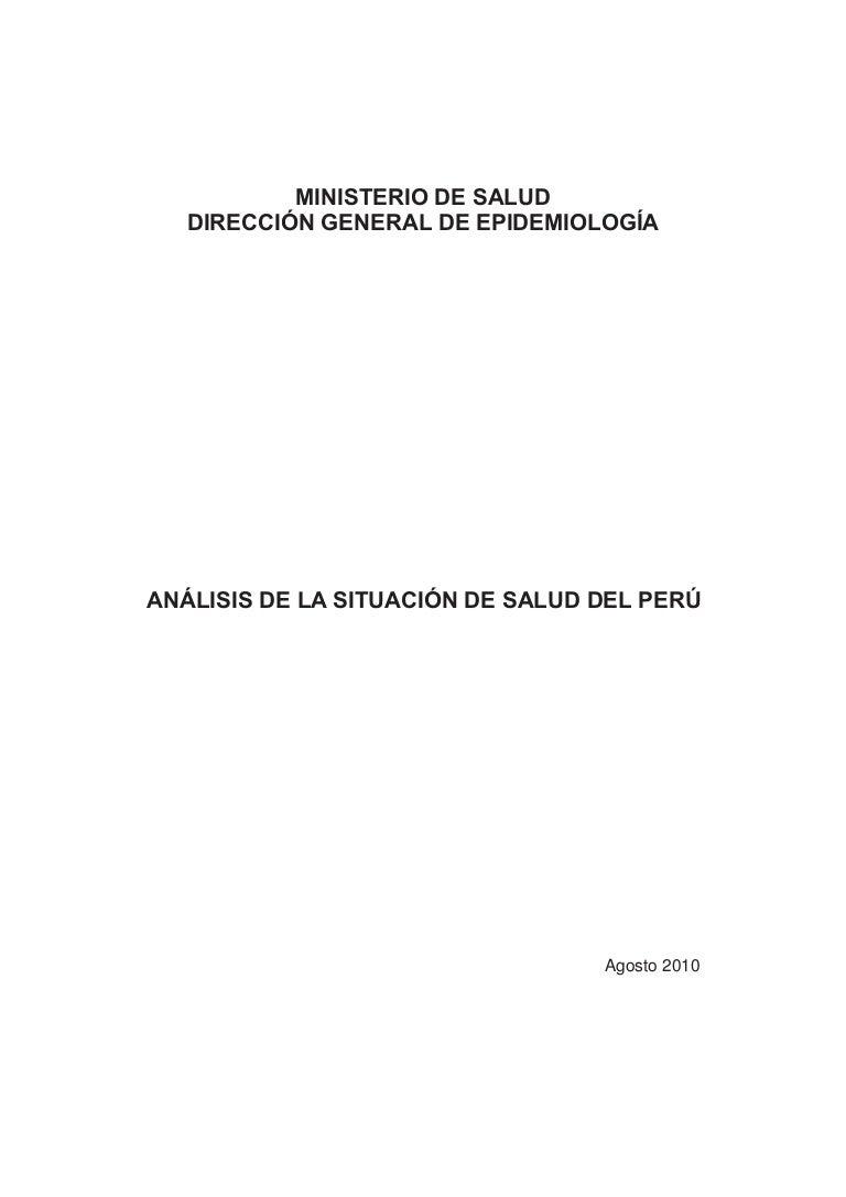 Analisis de situacion de salud del Peru año 2010