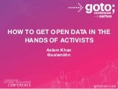 How to get open data into the hands of activists