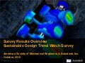 Autodesk Sustainability: Society of Mechanical Engineers (ASME) Design Trend Watch Survey