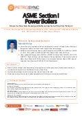 Asme section I  power boilers