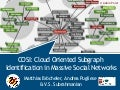 COSI: Cloud Oriented Subgraph Identification in Massive Social Networks