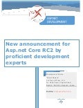 New announcement for Asp.net Core RC2 by proficient development experts