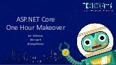 Techorama 2019 - ASP.NET Core One Hour Makeover