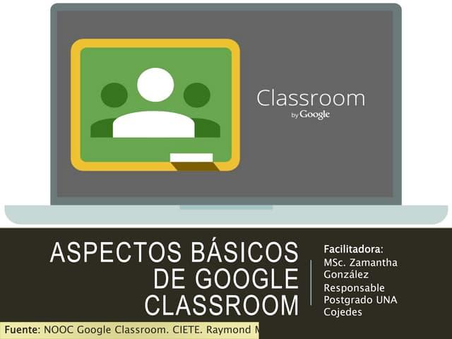 Aspectos básicos de google classroom