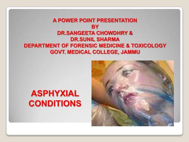 Asphyxial conditions