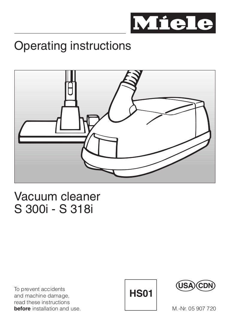 vacuum cleanner miele s312i 2 en rh slideshare net miele s312i repair manual miele model s312i manual