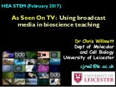 As Seen On TV: Using broadcast media in bioscience teaching