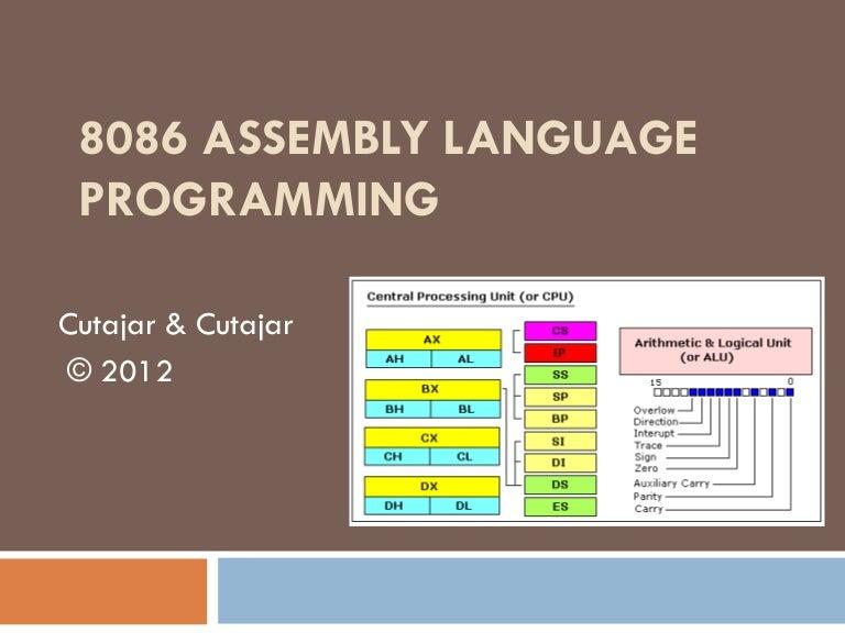 Assembly language 8086