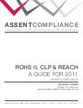 Assent Compliance Guide for 2011 REACH/RoHS