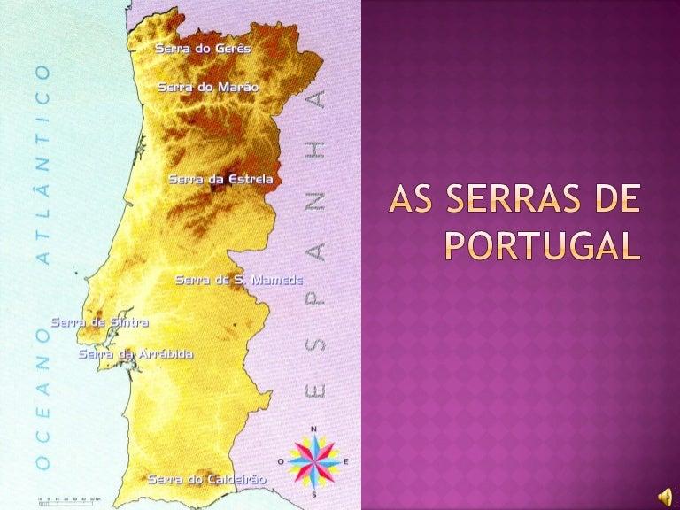 mapa das serras de portugal continental As serras de portugal mapa das serras de portugal continental