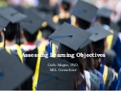 Assessing learning objectives