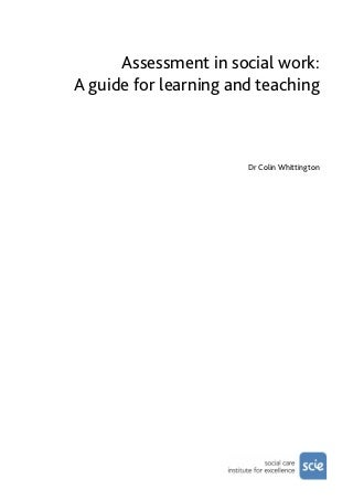 Assessment in Social work: A guide for learning and teaching