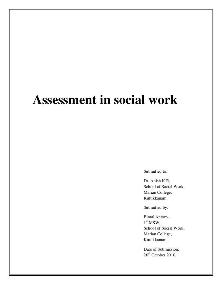 sample social work case study assessment