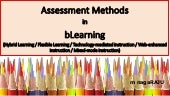 Assessment in Blended Learning