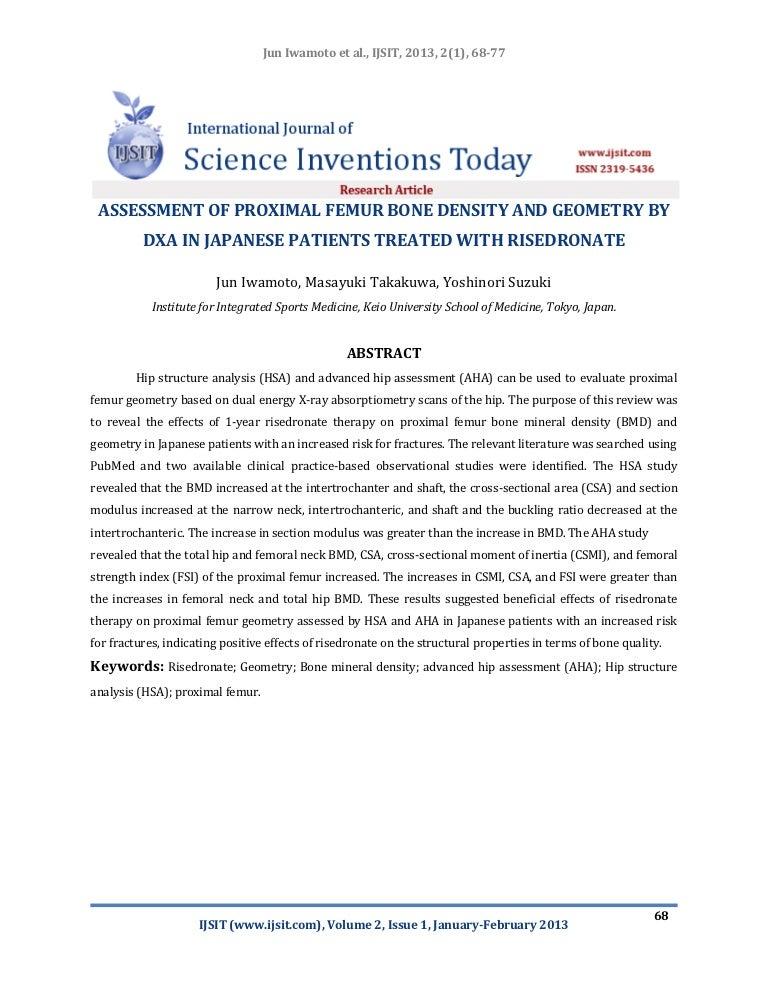 Assessment Of Proximal Femur Bone Density And Geometry By Dxa In Japa
