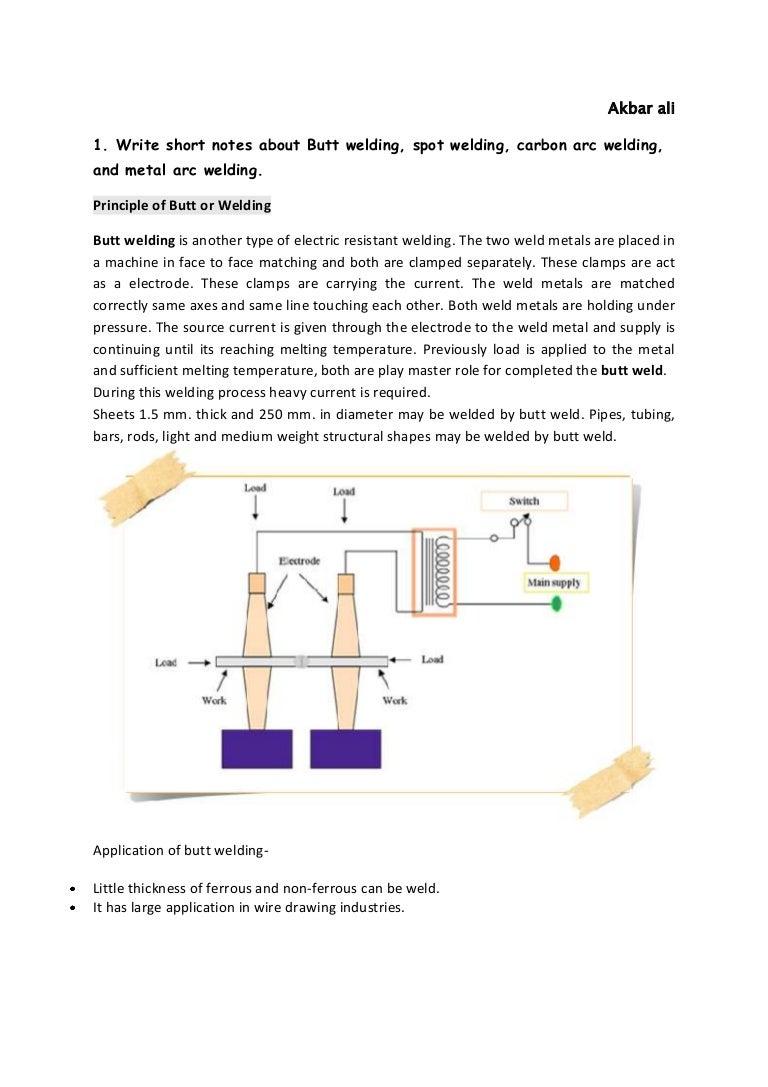 Utilisation Of Electrical Energy Spot Welding Circuit Diagram