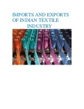 Imports and exports of Indian textile industry