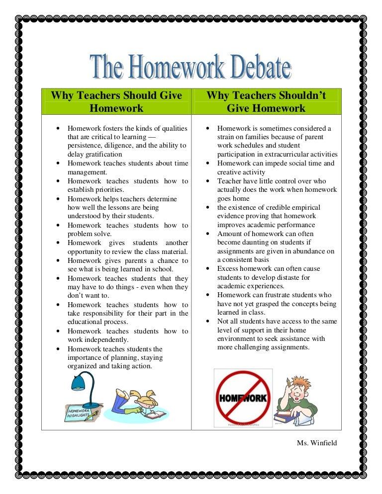 The Homework Debate Does Homework Help Brady