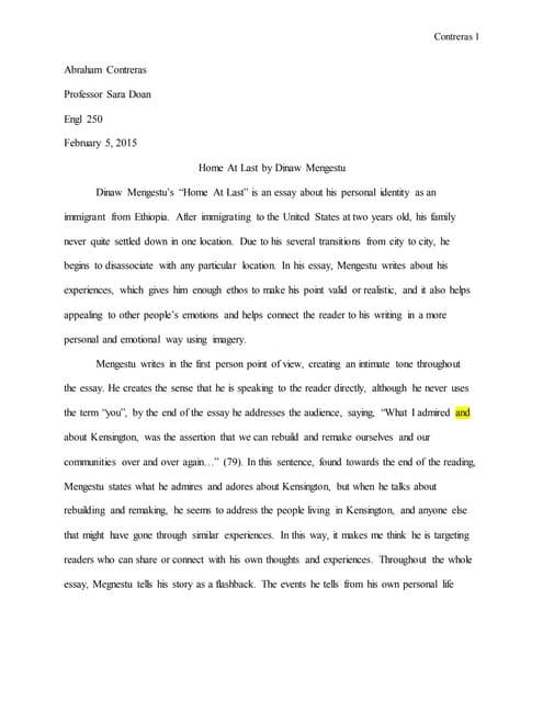 dinaw mengestu home at last essay