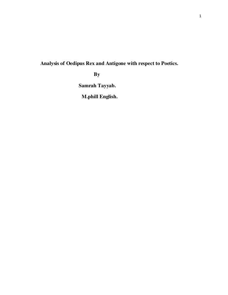 of antigone and oedipus rex with respect to poetics – Antigone Worksheet Answers