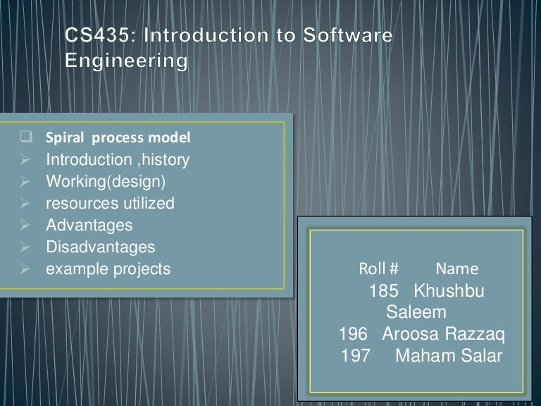 software engineering (spiral process model)