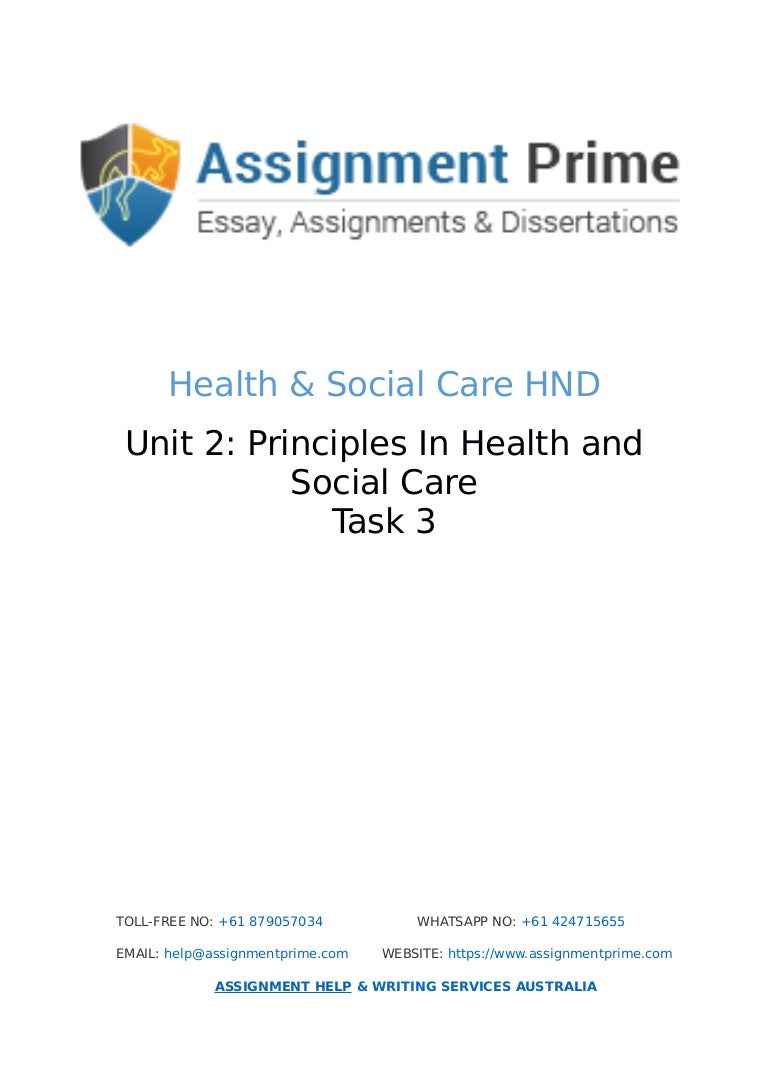 assignment prime sample assignment on health social care task 3