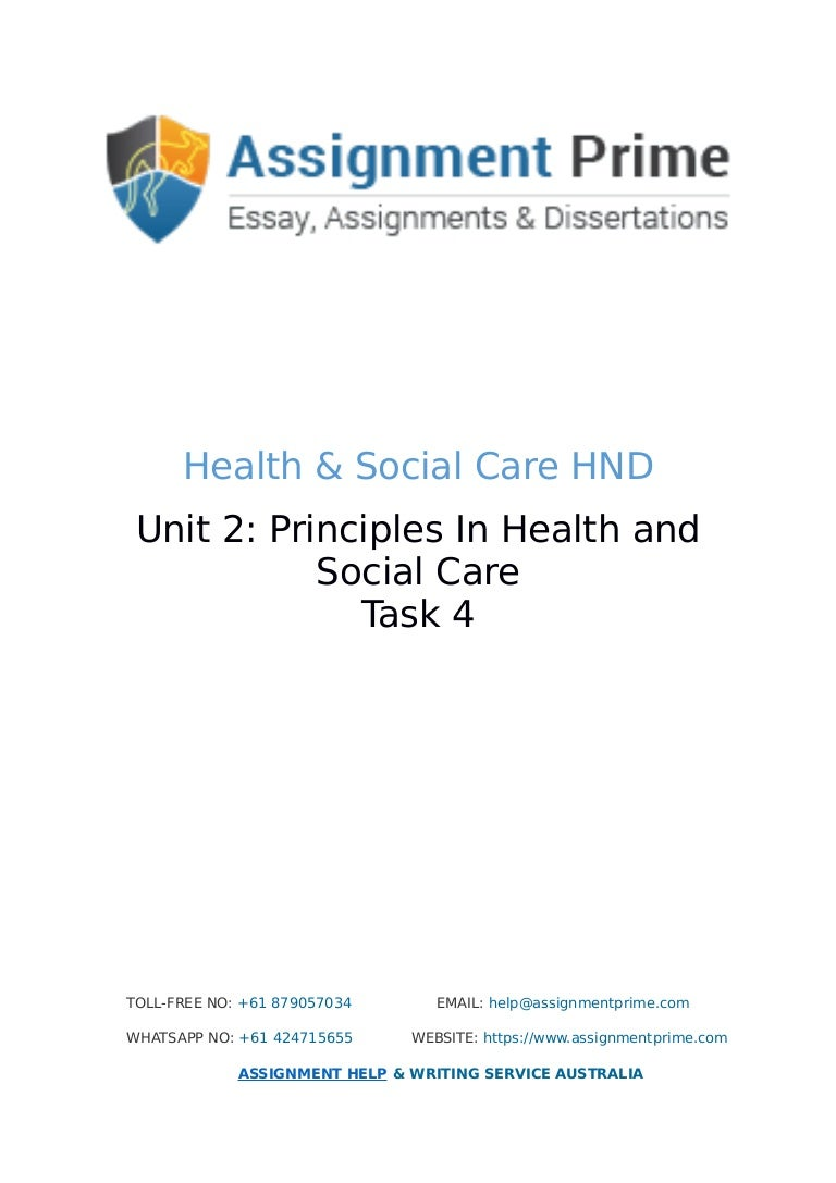 assignment prime sample assignment on health social care task