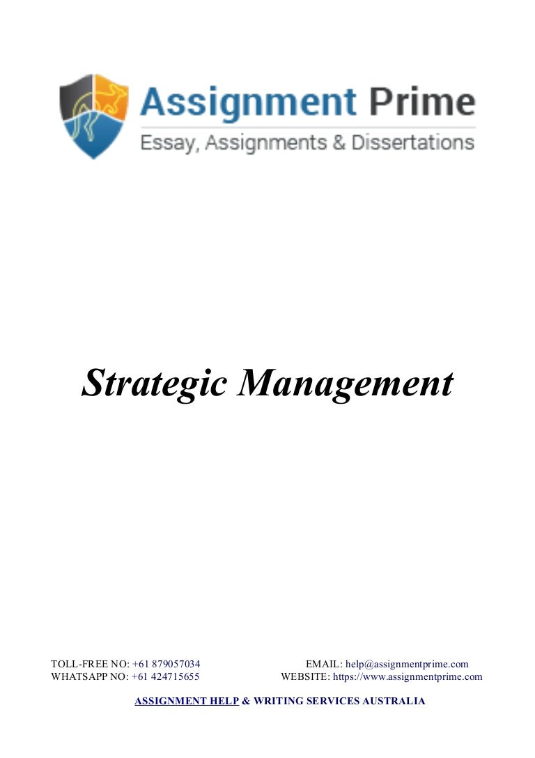 assignment prime sample assignment on strategic management