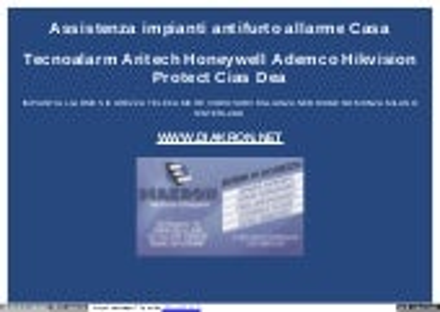 Tecnoalarm Milano Assistenza Antifurto
