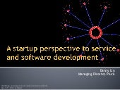 A Startup Perspective to Service and Software Development
