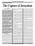 A Step Back In Time: The Capture Of Jerusalem  - Prophecy In The News Magazine -  December 2007