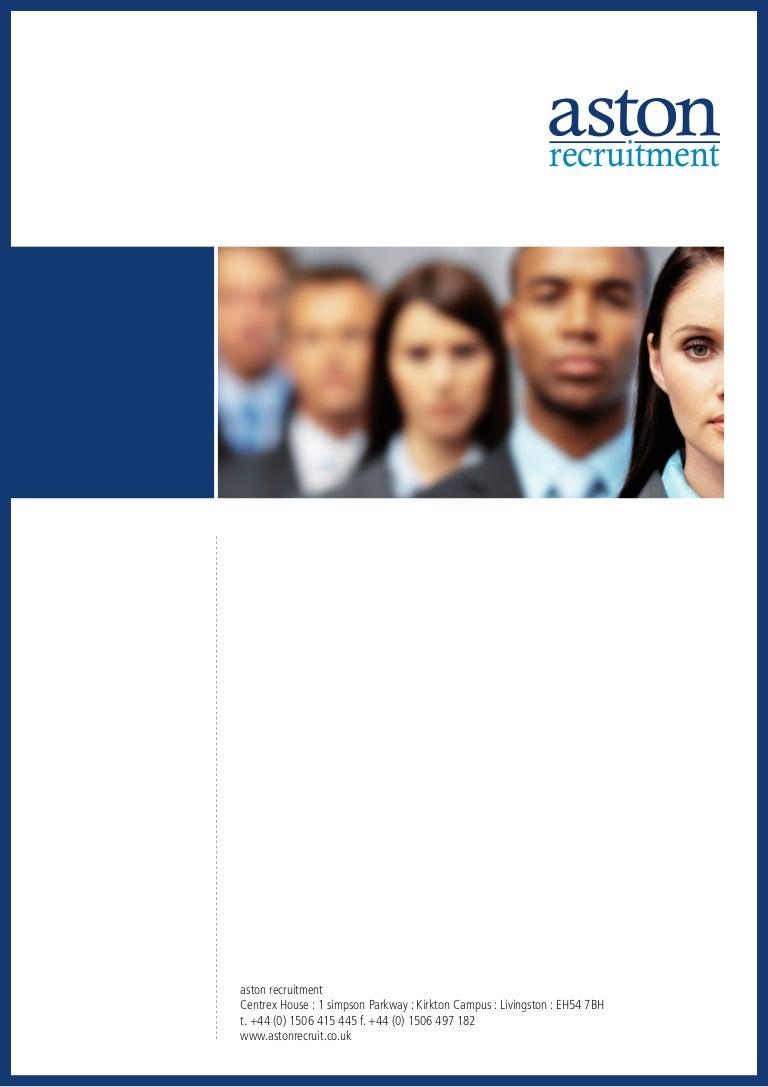 aston recruitment brochure