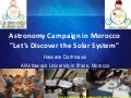 "Astronomy campaign in Morocco ""Let's discover the solar system"" by Darhmaoui Hassane"