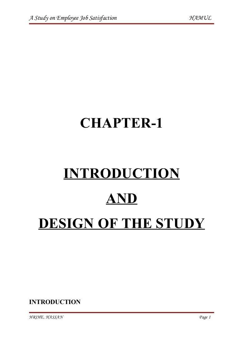 Phd thesis on employee satisfaction