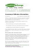 Diffusion of Innovations - A Summary  2009 - Les Robinson