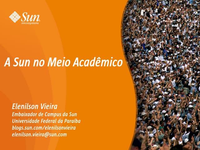 A Sun no Meio Acadêmico - IESP/FatecPB