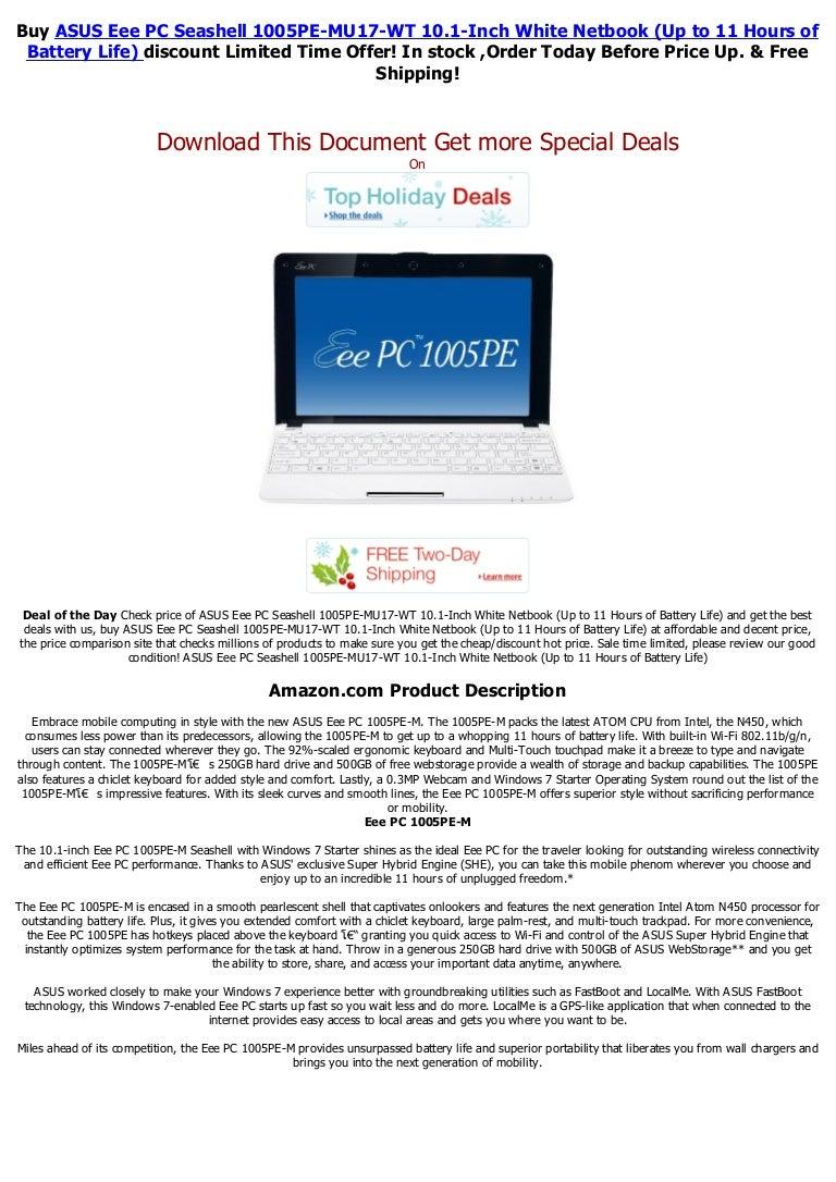 Asus eee pc 1005 ha pu1 x bu 10 1 inch blue netbook.