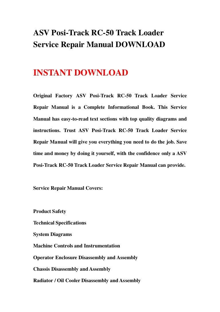 asvposi trackrc 50trackloaderservice 130112200701 phpapp01 thumbnail 4?cb=1358021258 asv posi track rc 50 track loader service repair manual asv rc 50 wiring diagram at beritabola.co