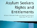 Asylum seekers rights and entitlements