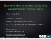 Oracle Code One: Events and commands: developing asynchronous microservices