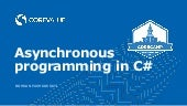 Asynchronous programming in C#