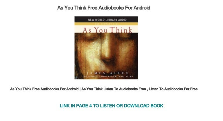 As a man thinketh full audio book by james allen | greatest.
