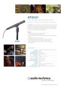 Audio Technica AT2031 Datasheet