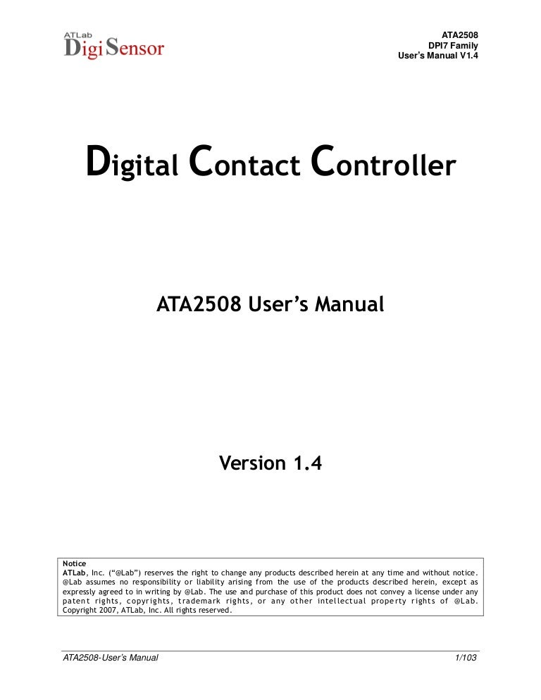 Ata2508 Users Manual V1 – Free Horse Bill of Sale